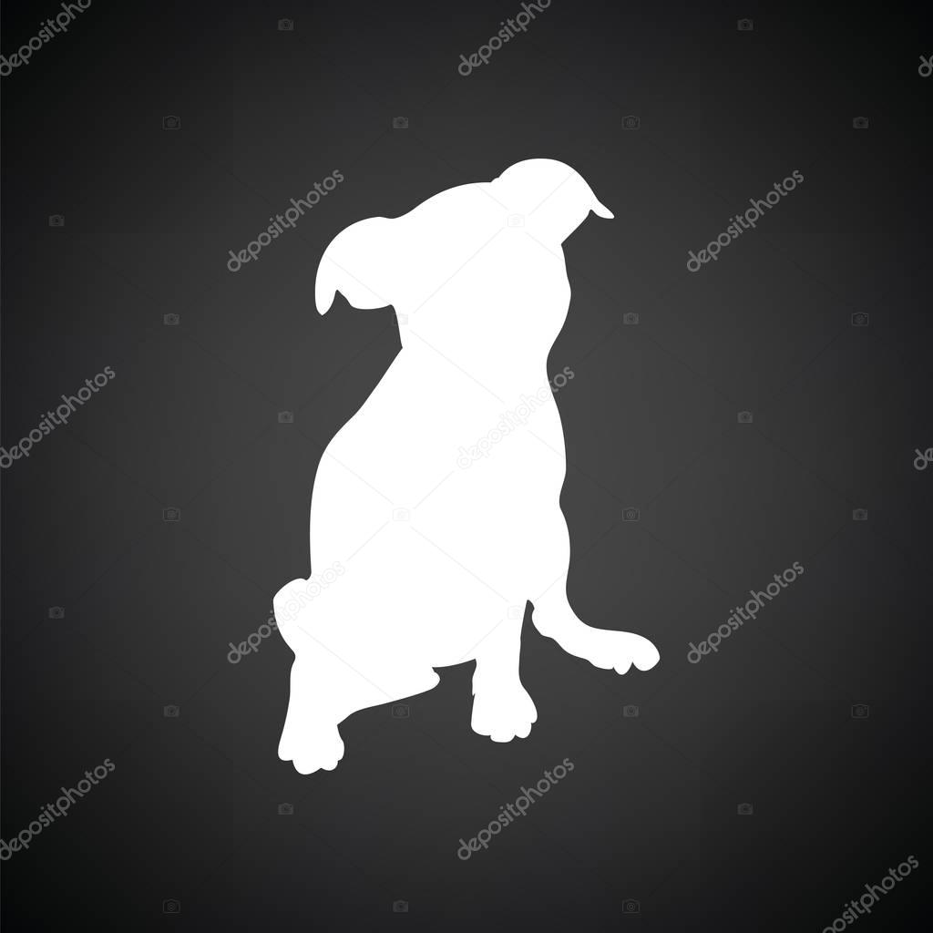 Puppy icon illustration.