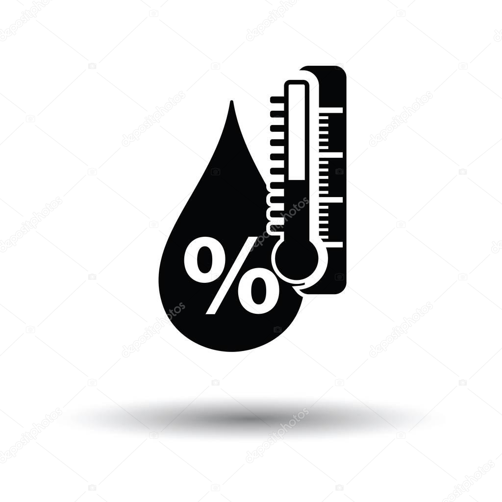 Humidity icon  with shadow design.