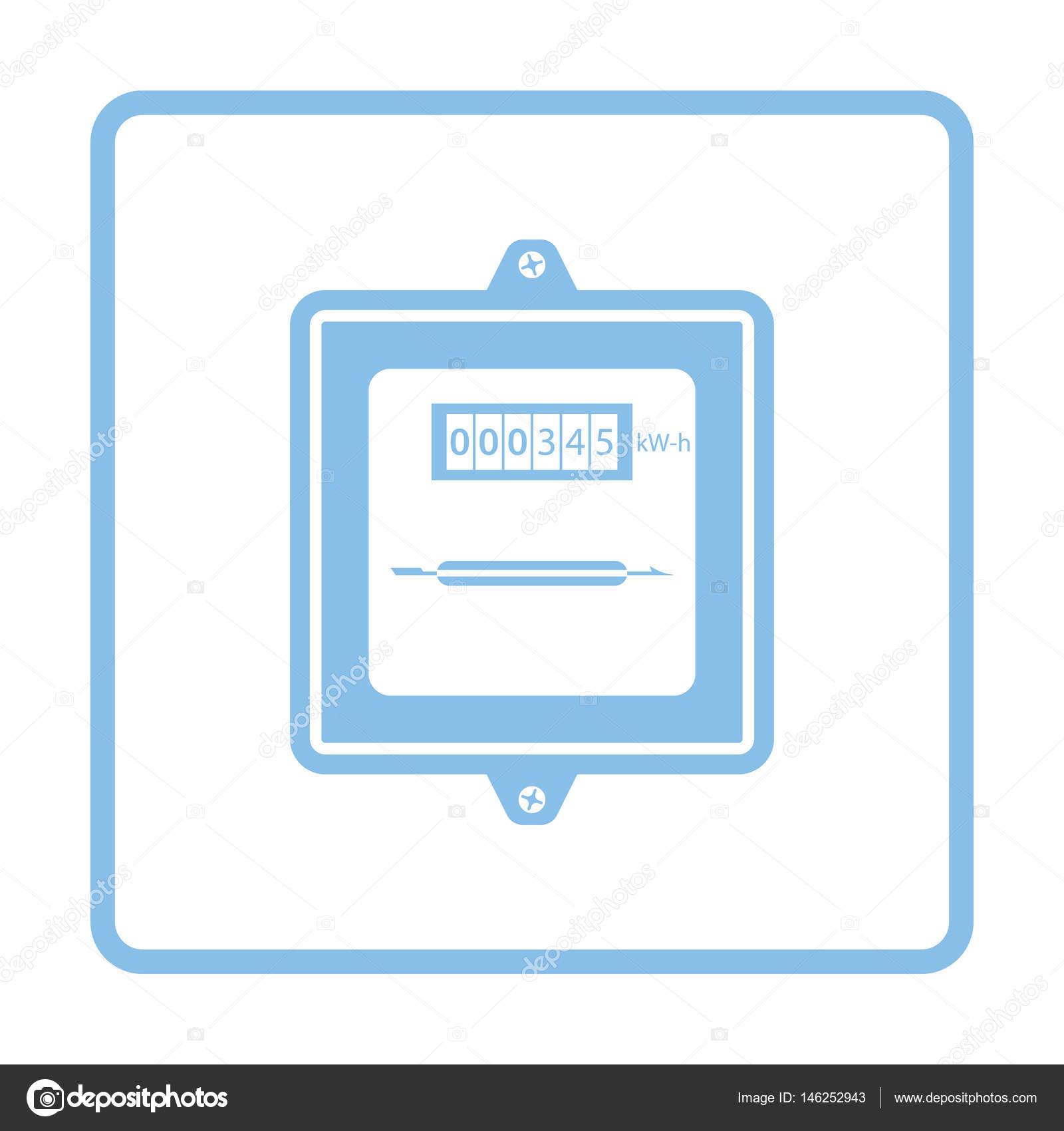 Electric meter icon — Stock Vector © angelp #146252943