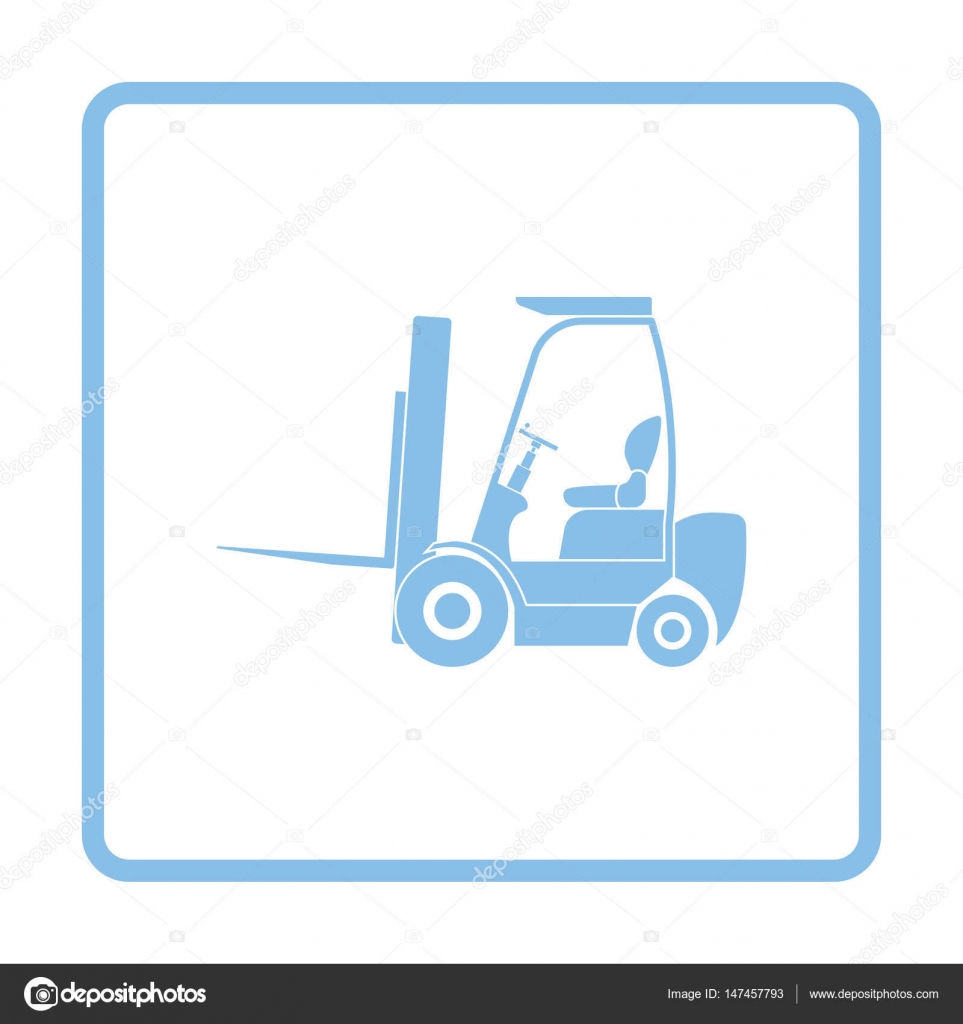 Warehouse forklift icon — Stock Vector © angelp #147457793