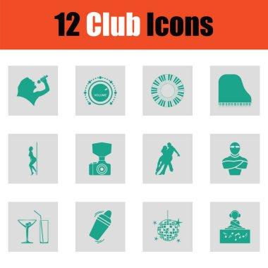 Set of club icons