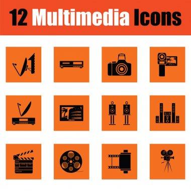 Set of multimedia icons