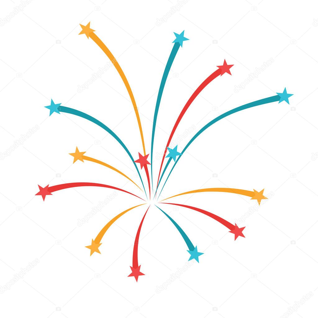 Fireworks icon design — Stock Vector © angelp #180334958Fireworks Icon