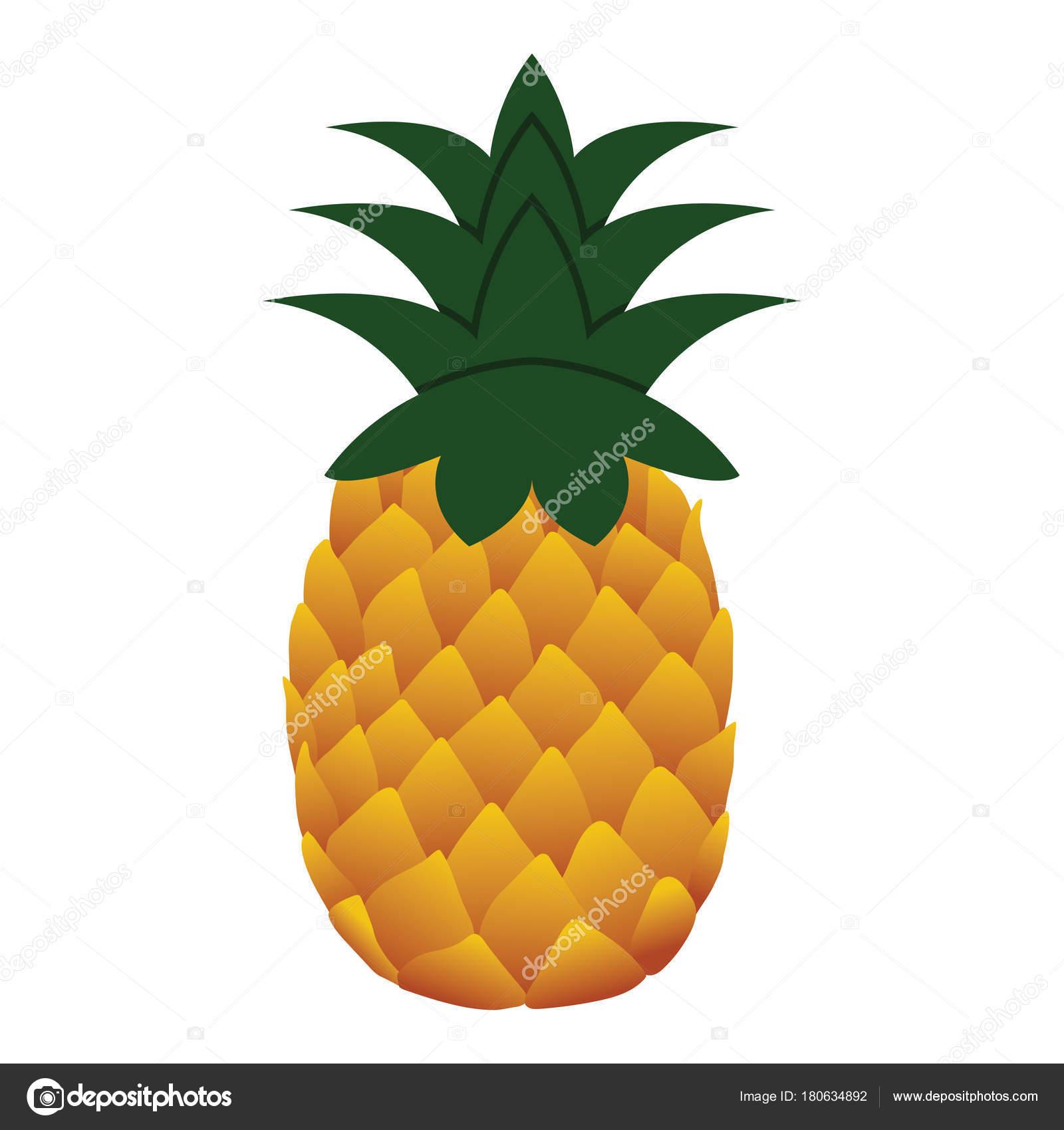 Flache Design-Ikone der Ananas — Stockvektor © angelp #180634892