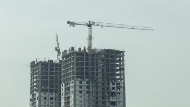 Construction With Cranes Timelapse