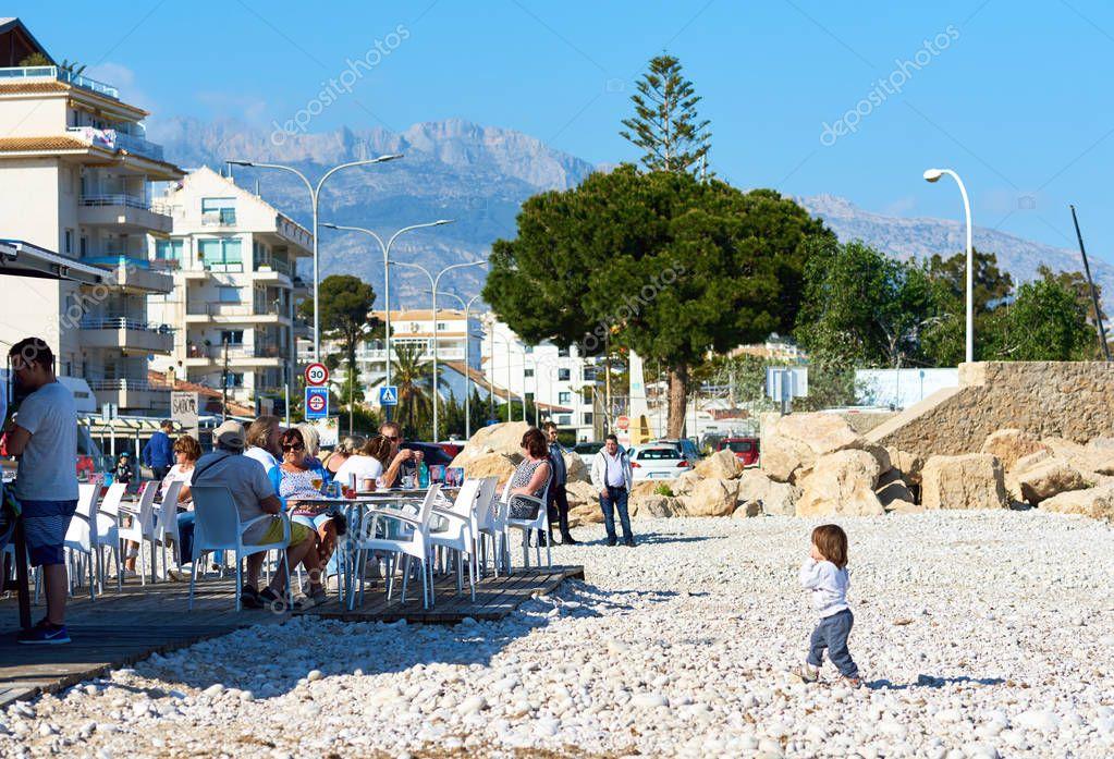 Pebble beach of Altea