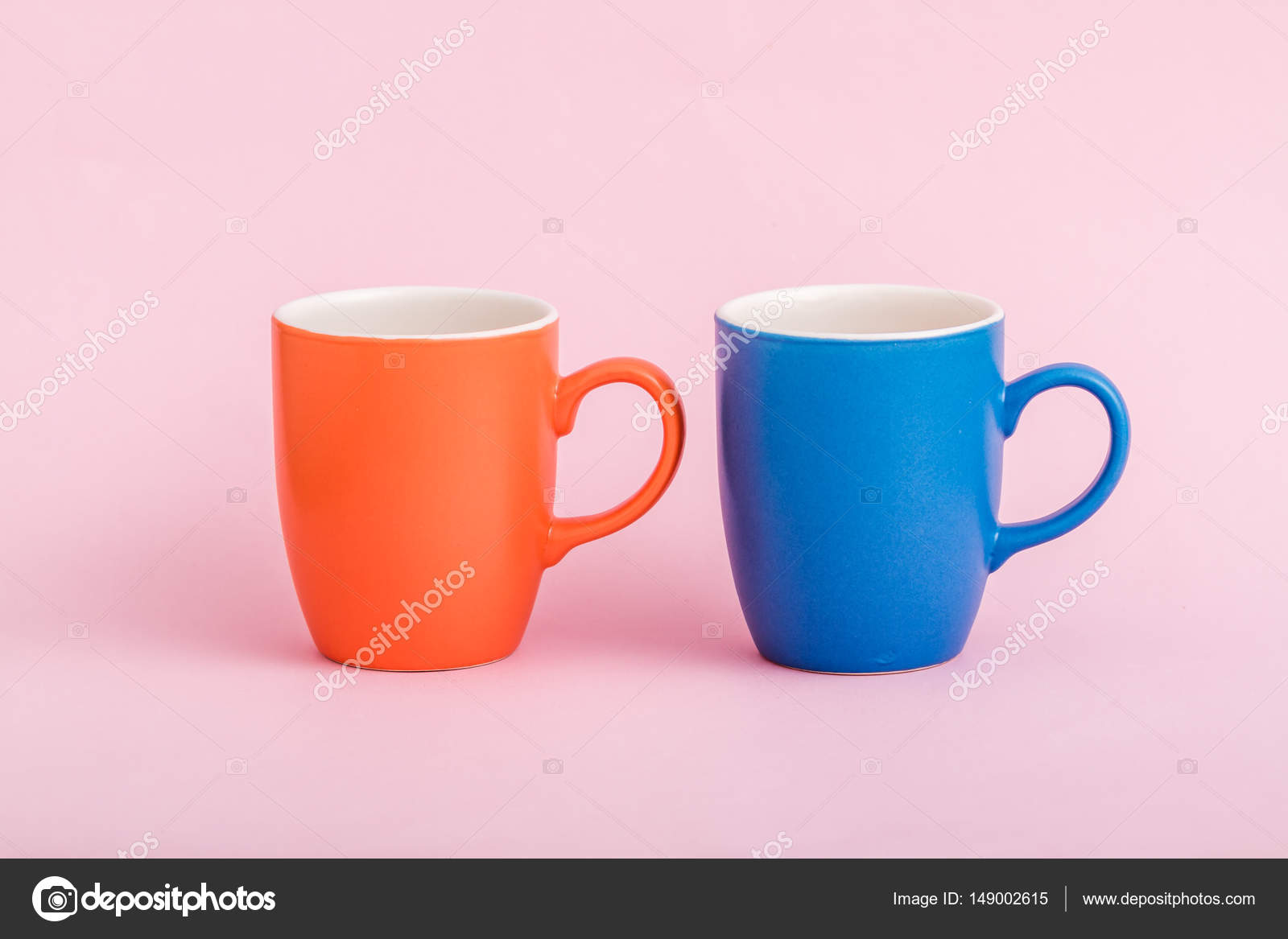 Colorful Coffee Mugs On Pink Background Stock Photo Hskoken. Nonsensical ...