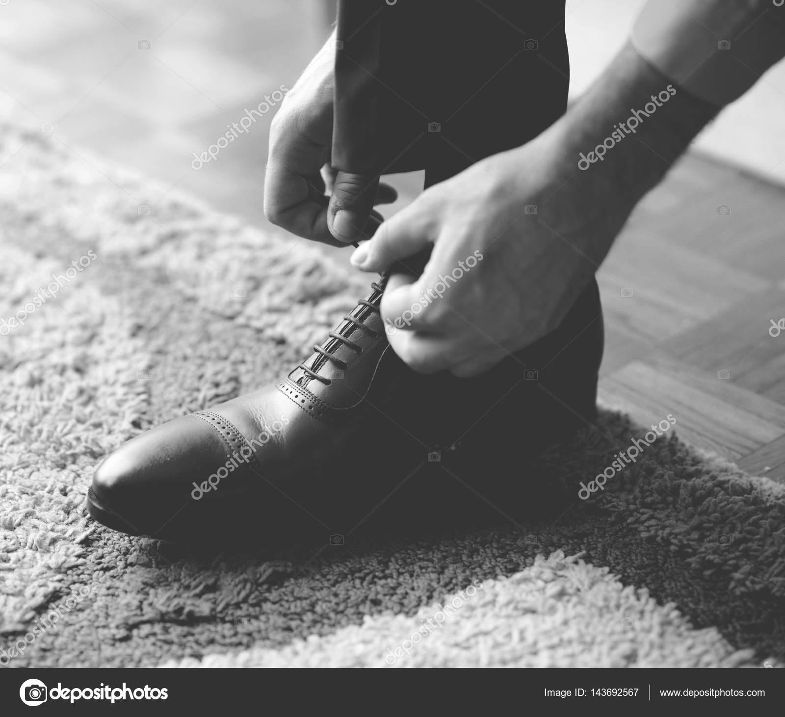 Schwarze Zu Schuhe Schwarz Mann BindenAuf Schnürsenkel Die bf6Y7Ivgy