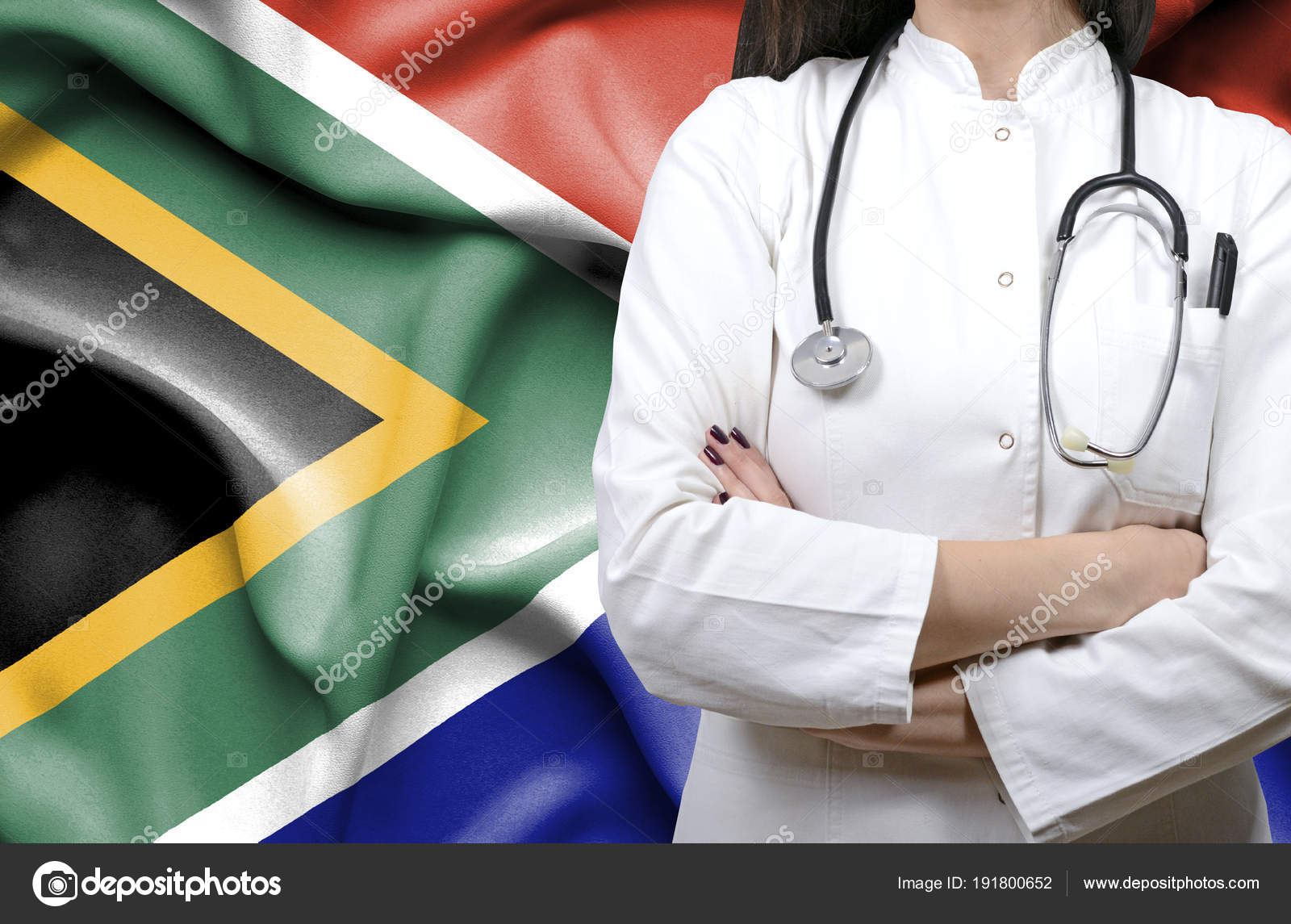 conceptual image national healthcare system south africa stock