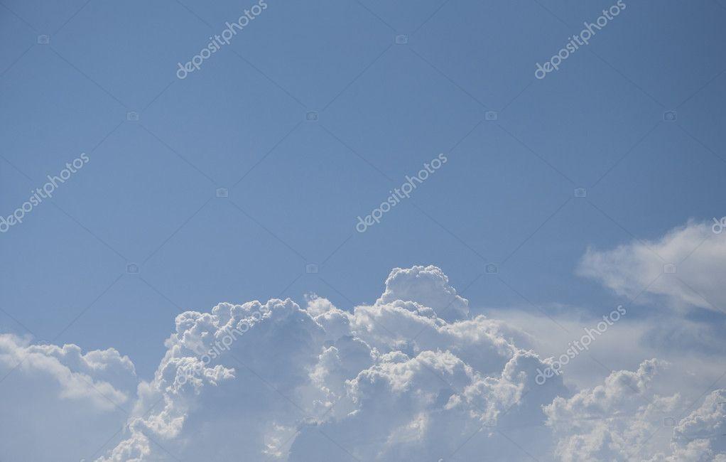 blue sky with cloud closeup