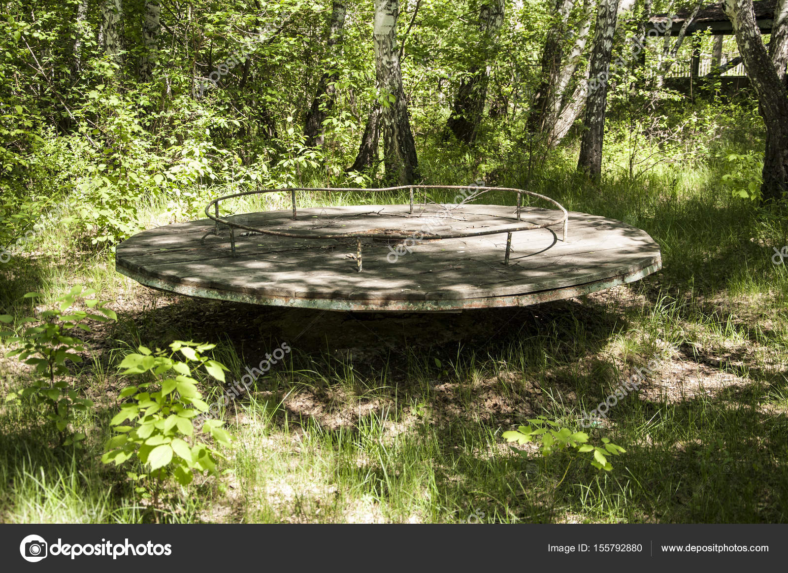 Abandoned Playground In Forest Stock Photo C Inxti74 155792880