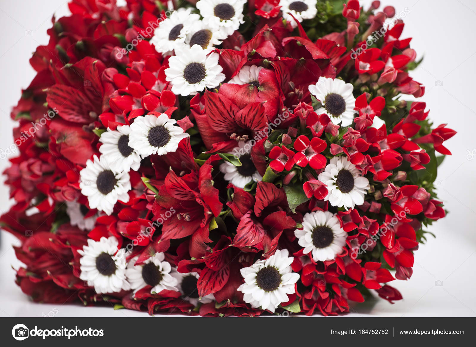 Red Black And White Wedding Flowers Red And White Flowers Stock Photo C Erika8213 164752752