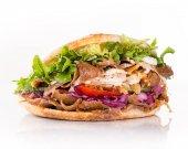 zblízka kebab Sandwich.