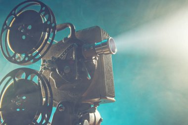 Old style movie projector, close-up.