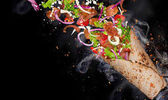 Kebab sendvič s létáním ingredience.