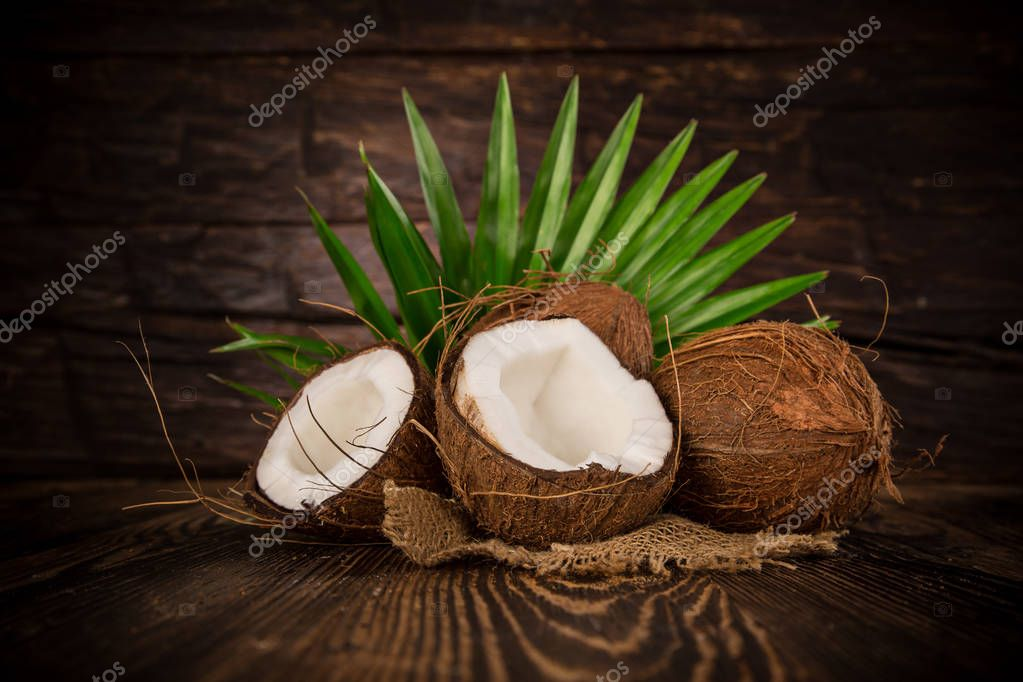 close-up of a coconuts