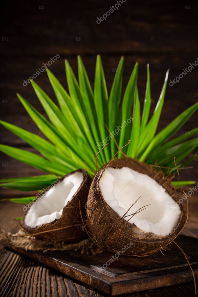 close-up of a coconuts