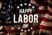 Fotografie Labor day banner, patriotic background