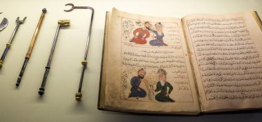 Ancient Arabian Medical book and tools