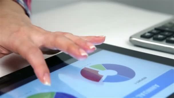 Účetní zobrazení finanční zprávy o digitálním tabletu