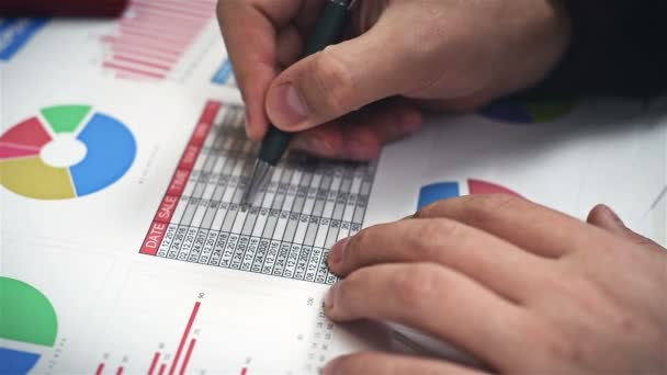 Accountant Checks Financial Report And Analyzes Stock Exchange Statistics