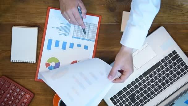 Trader Man Analyzing Stock Statistics On Clipboard. Paperwork Concept