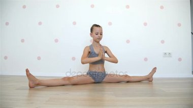 little girl stretch stock videos royalty free little girl