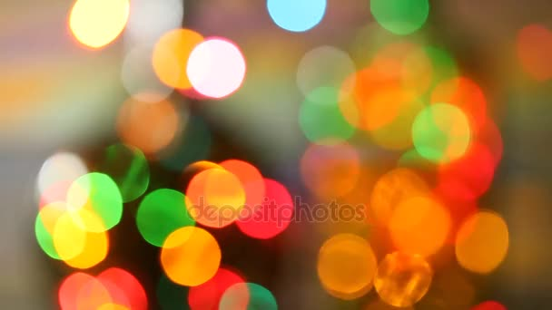 video bokeh slavnostní pozadí. Rozmazané, bokeh světla pozadí. Abstraktní jiskří