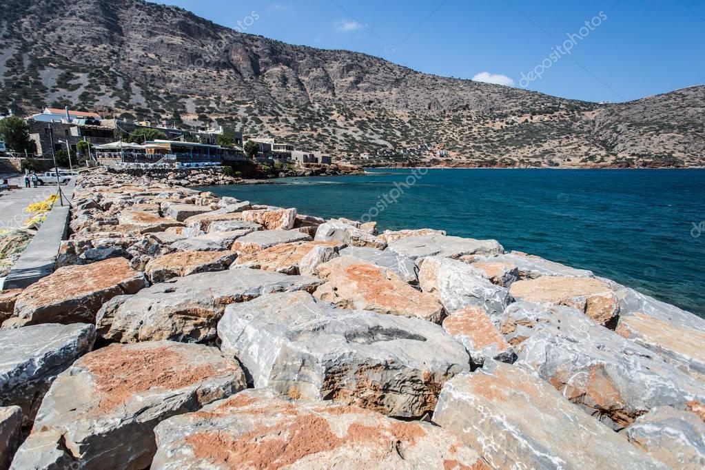 Sea coast line. Crete.