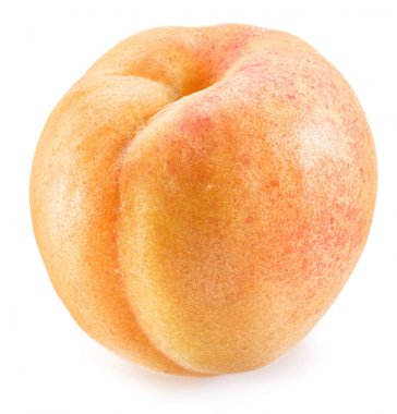 Apricot fruit on the white background.