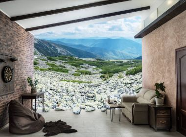 Living room with access to the mountain area.