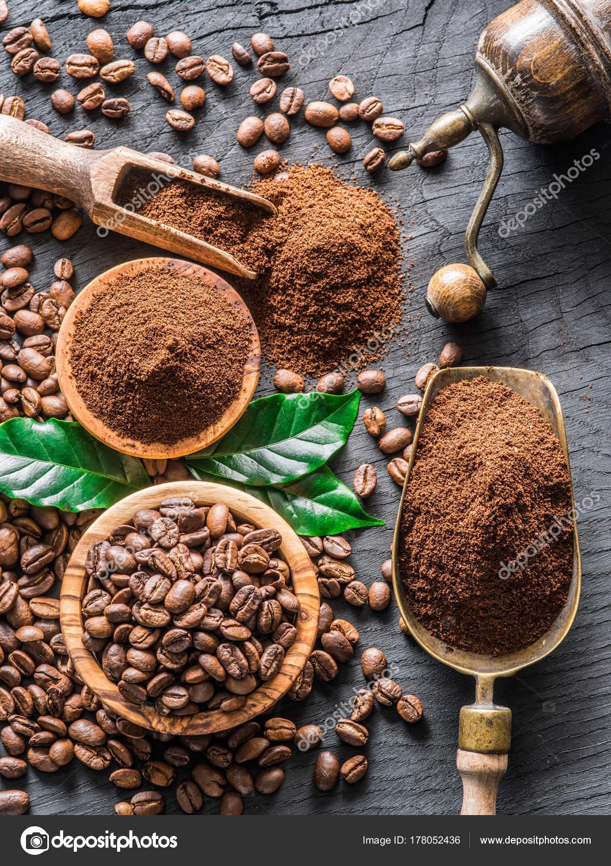 koffiebonen of gemalen koffie