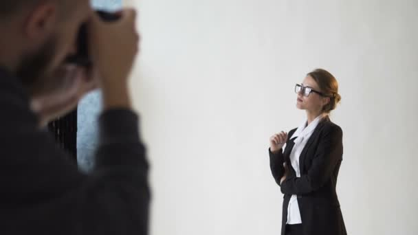 Taking Photo of Good-looking Businesswoman