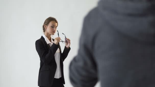 Shooting of Intelligent Businesswoman