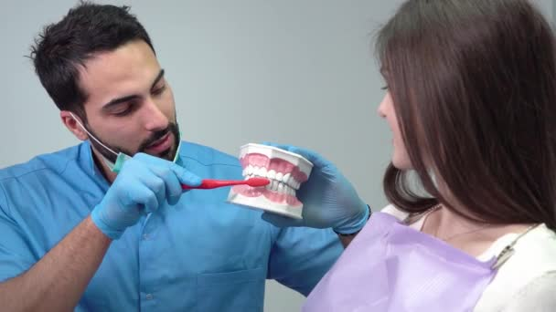 Dentist Shows How to Clean Teeth