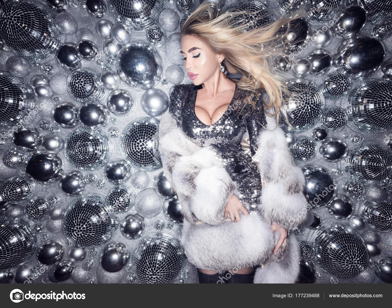 Something Beautiful blonde in fur coat