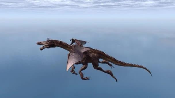 Repülő sárkány, a tenger felett