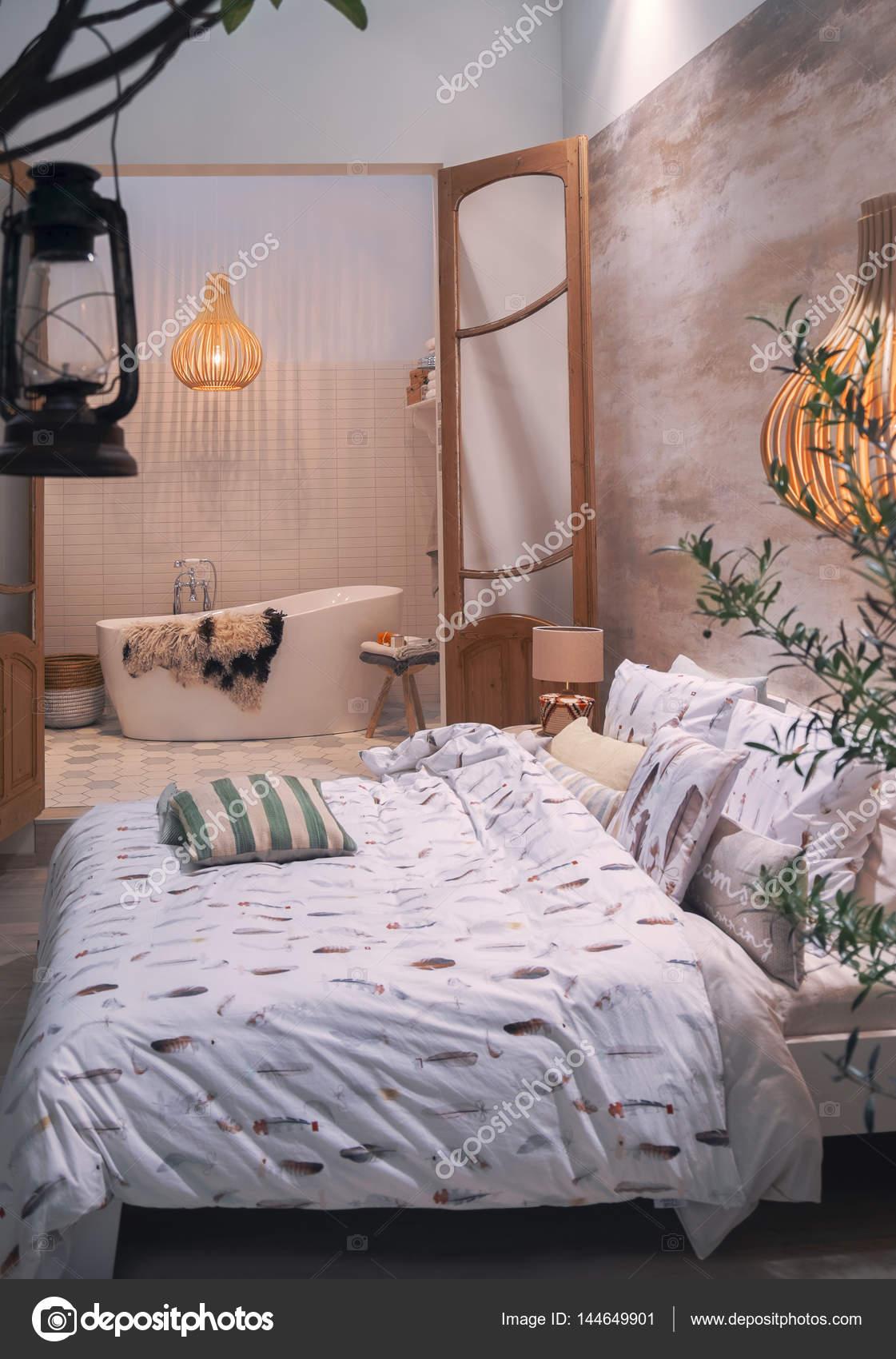 Casa camera da letto in stile country — Foto Stock © araraadt #144649901