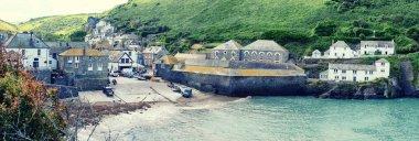 panorama of village Port Isaac, Cornwall