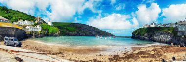 panorama of harbor  Port Isaac, Cornwall