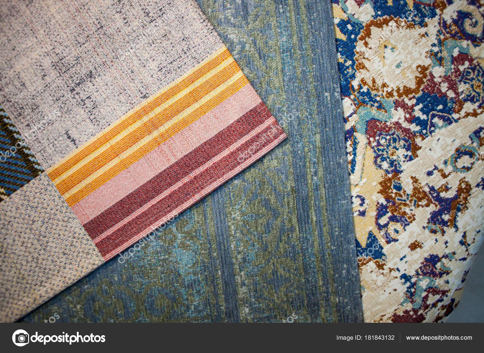Dywan Sklep Wystawa Kolorowe Dywany Zdjęcie Stockowe