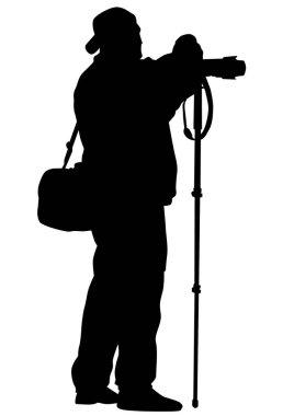 Photo man on white