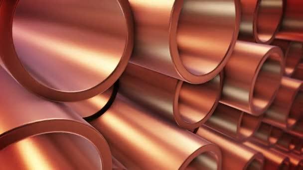 Round metal tubes.