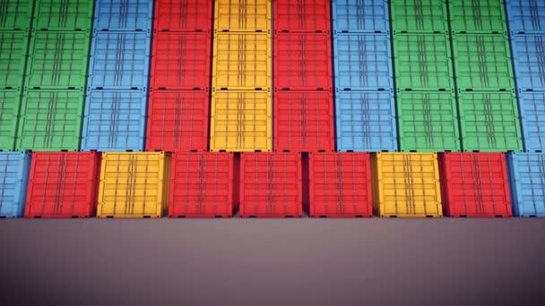 Cargo-Container wird Türen öffnen