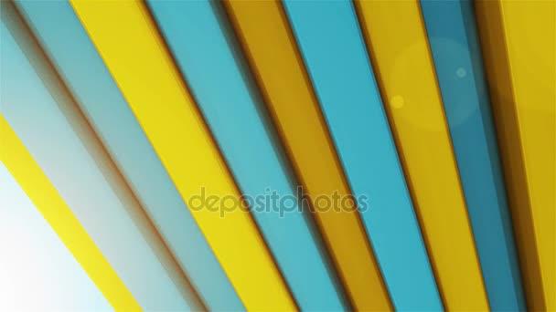 spektrum tyrkysové a žluté přesunutí čáry
