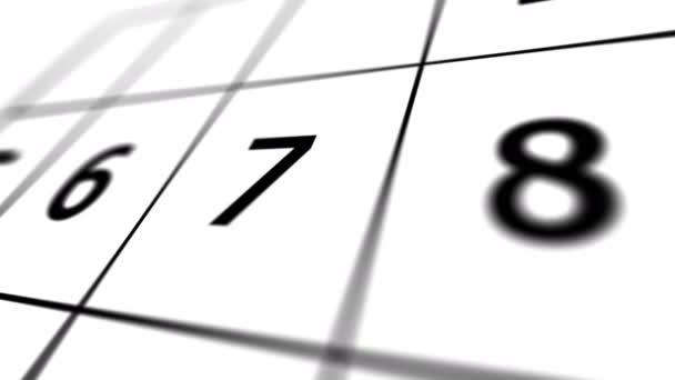 Kalendář pro měsíc s černými a červenými čísly