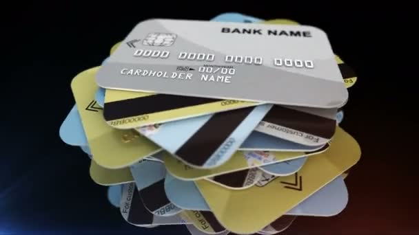 pile of rotating credit cards
