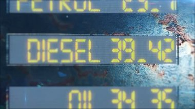 DIESEL, OIL, PETROL and ELECTRICITY counter