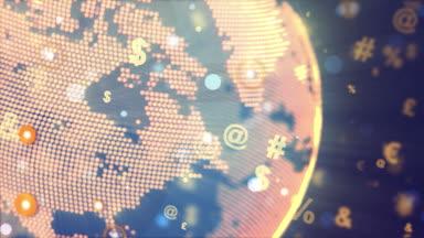 Digitální Zlatý glóbus měny zvěrokruhu