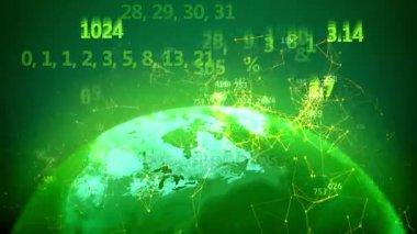 Země světa s digitálním čísly